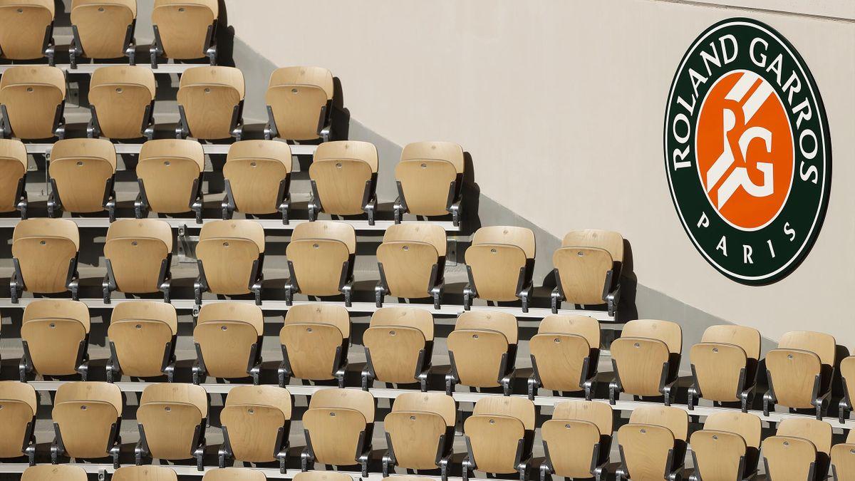 Les tribunes vides de Roland-Garros en 2020
