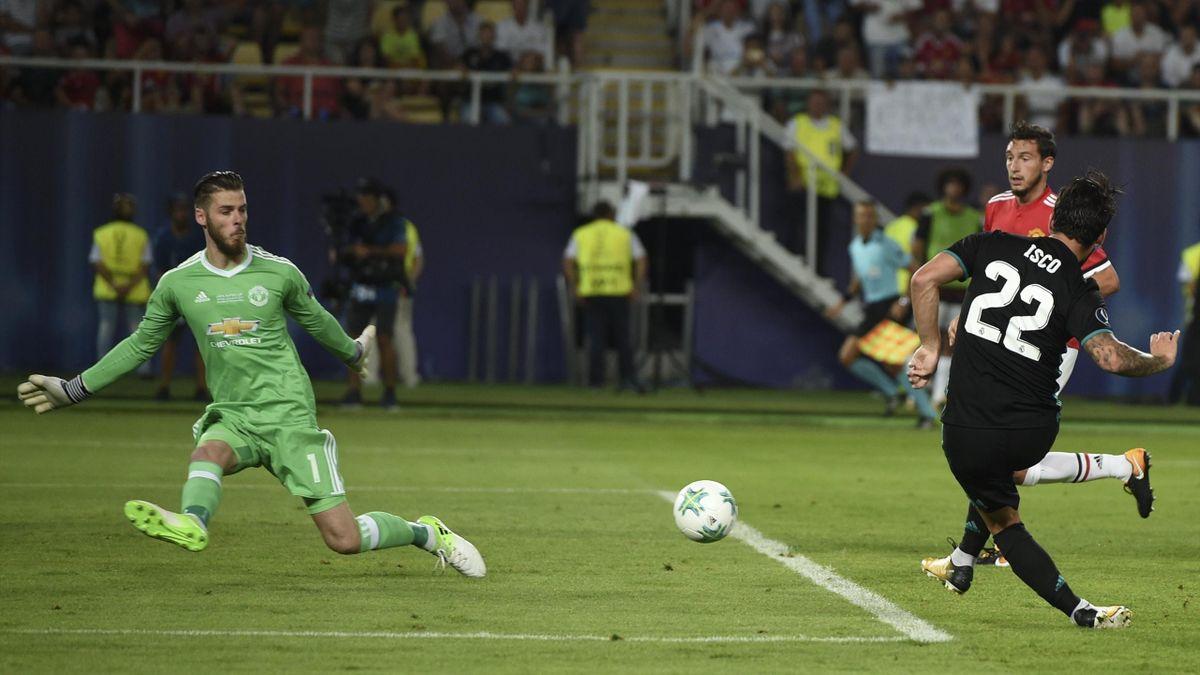 Isco Alarcón (Real Madrid) celebra su gol ante el Manchester United en la Supercopa