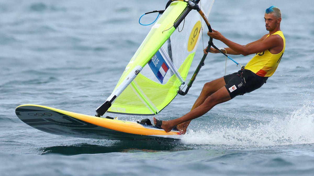 Kiran Badloe tijdens de Olympische Spelen