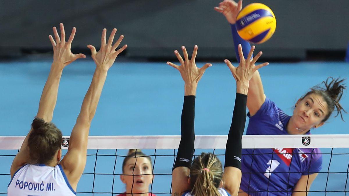 La volleyeuse française Héléna Cazaute.