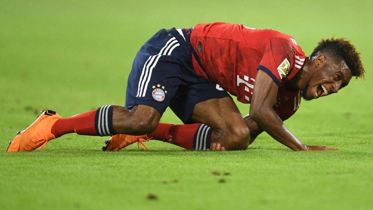 FC Bayern Münchens Kingsley Coman verletzt sich gegen Hoffenheim schwer