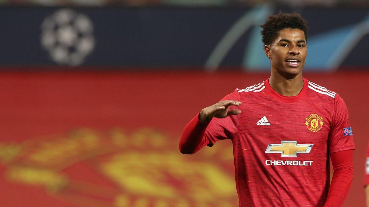 Marcus Rashford of Manchester United celebrates