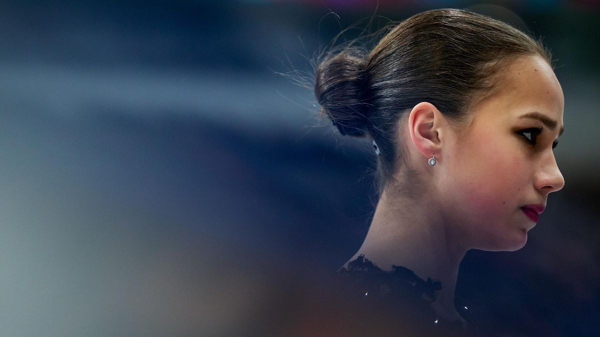 Alina Zagitova of Russia looks on prior to performing in the Ladies Free Skating during day three of the ISU European Figure Skating Championships at Minsk Arena on January 25, 2019 in Minsk, Belarus