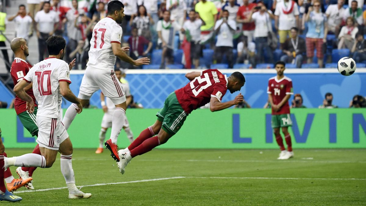 Aziz Bouhaddouz (Marokko vs. Iran)