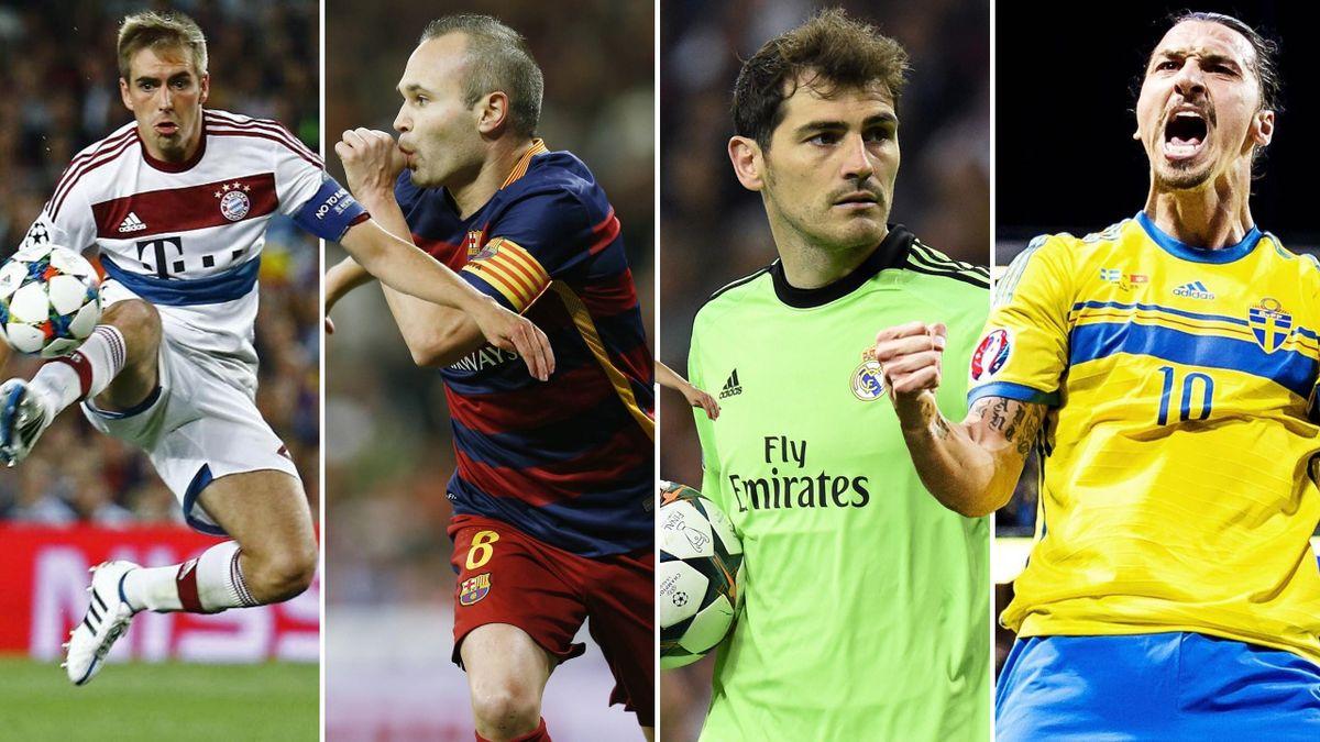 Weltklasse ja, Weltfußballer nein: Lahm, Iniesta, Casillas, Ibrahimovic (v.l.n.r.)