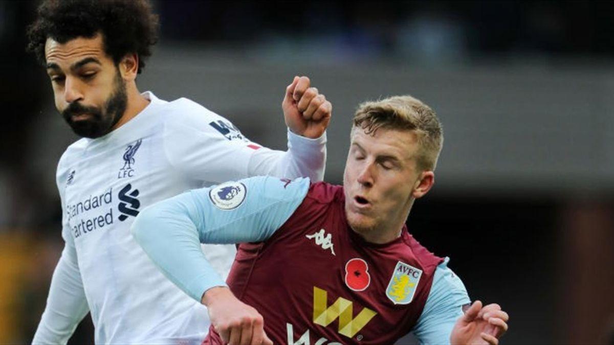 Mo Salah, în partida tur contra lui Aston Villa