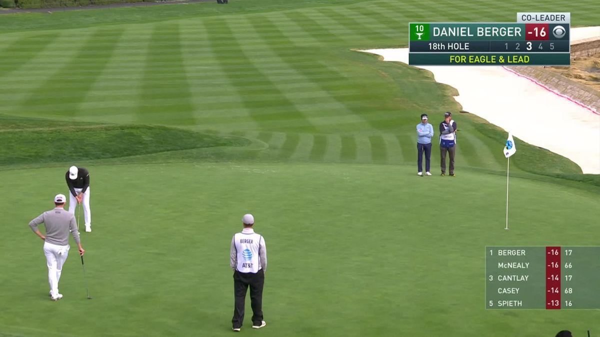 Golf : PGA Tour Pebble Beach Day 4 : Daniel Berger's eagle
