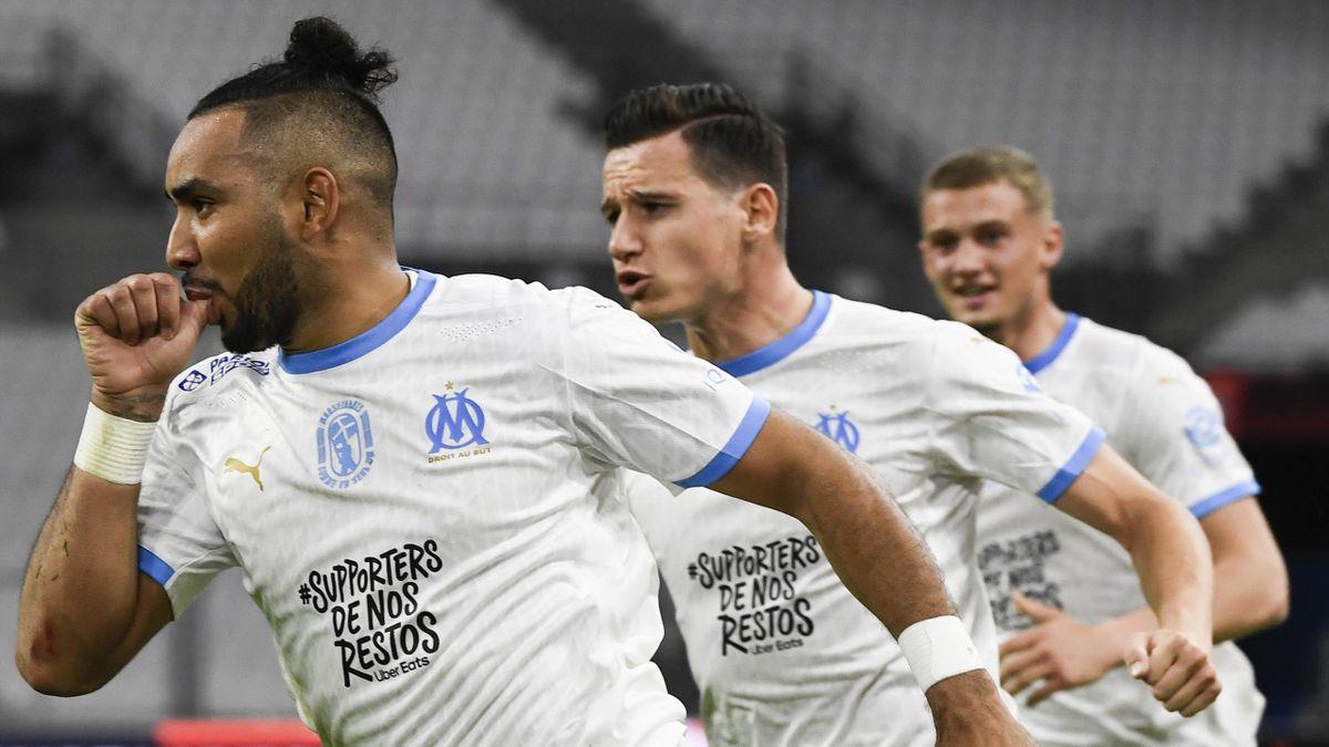 Payet, Thauvin et Cuisance lors de la victoire face à Nantes