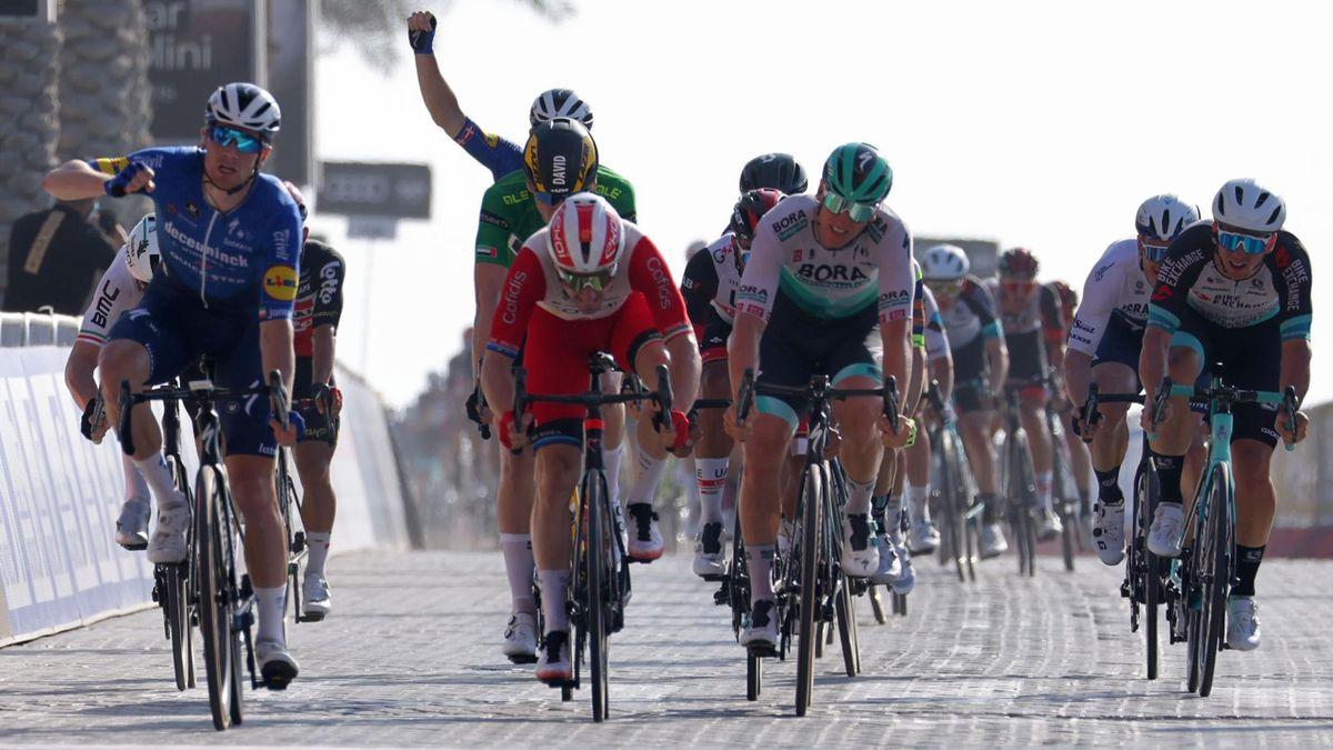 Sam Bennett, Elia Viviani - UAE Tour 2021, stage 5 - Getty Images