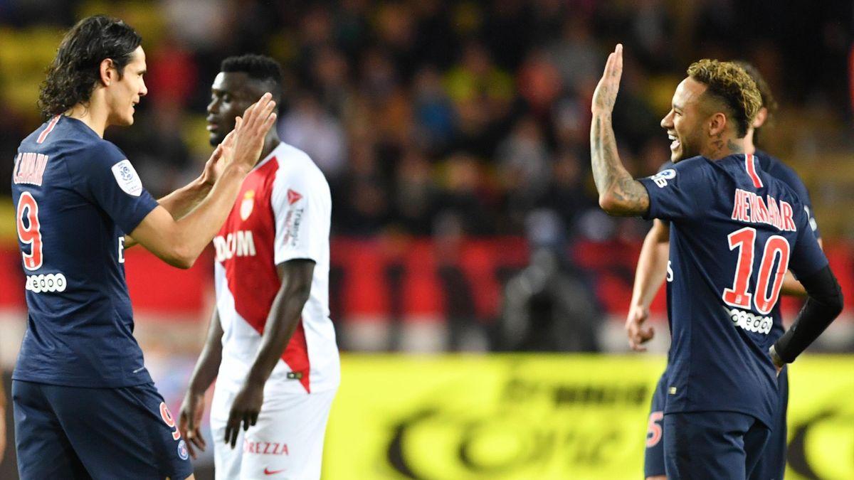 Edinson Cavani, Neymar / PSG - AS Monaco