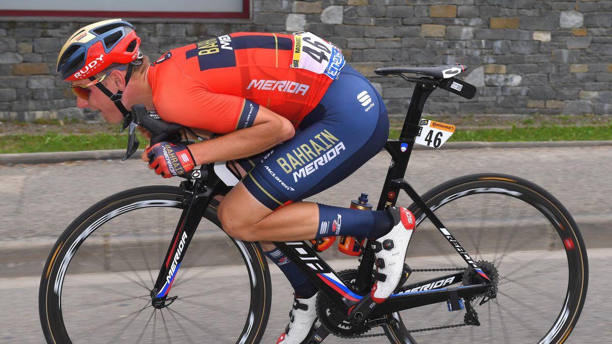 Matej Mohoric vom Team Bahrain-Merida bei der Tour de France 2019,