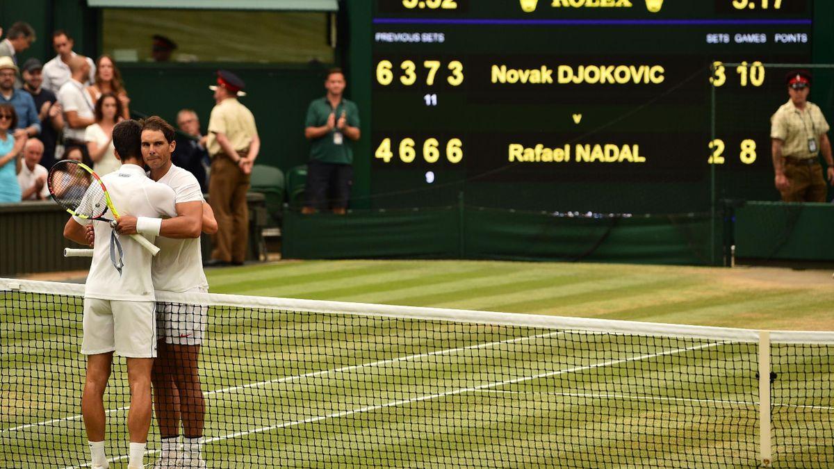 Wimbledon. Djokovic. Nadal. Vijf sets. 5 uur en 17 minuten. Een klassieker.