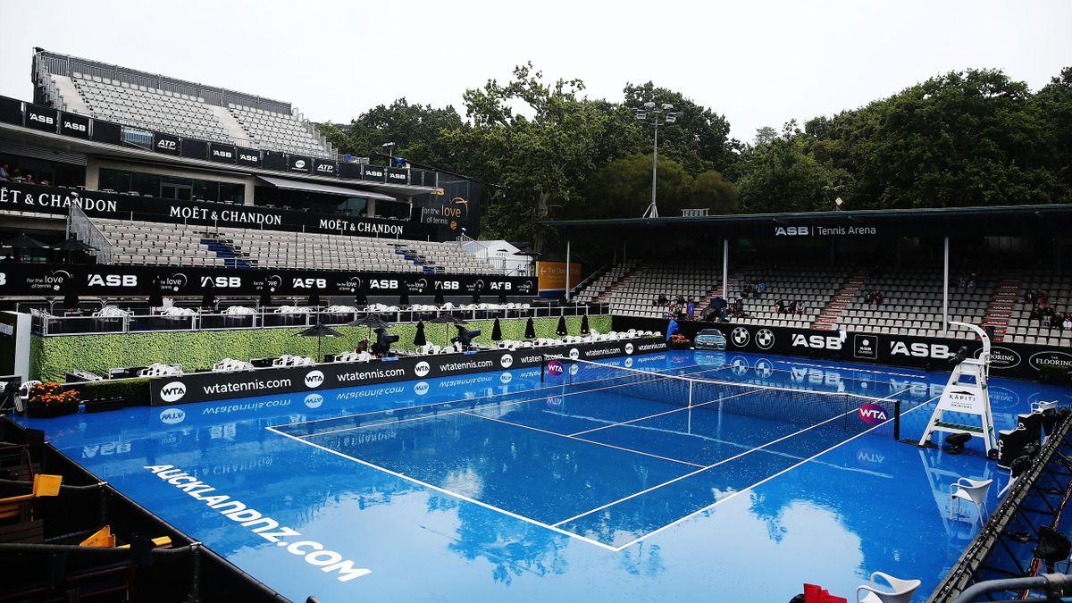 Rain delays play in Auckland