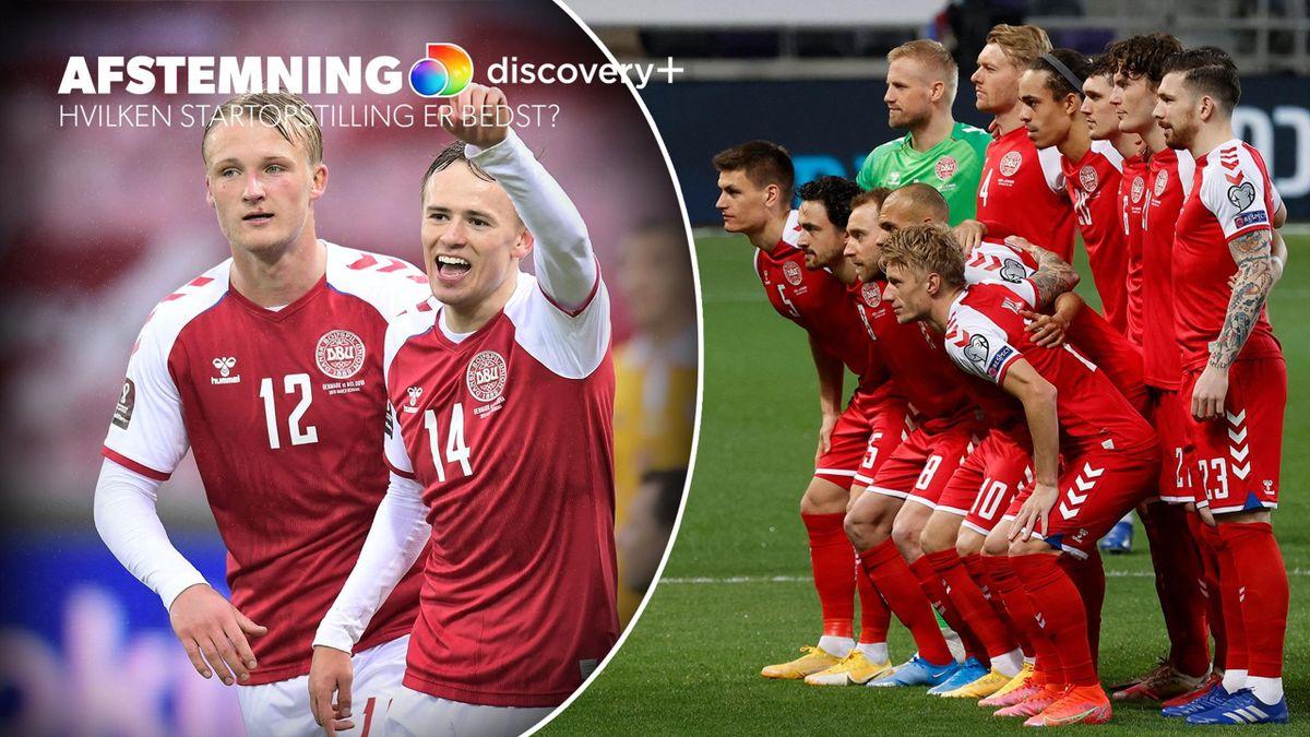 Ville Kasper Dolberg, Mikkel Damsgaard og co. kunne spille lige op med den på papiret stærkeste danske start 11'er?