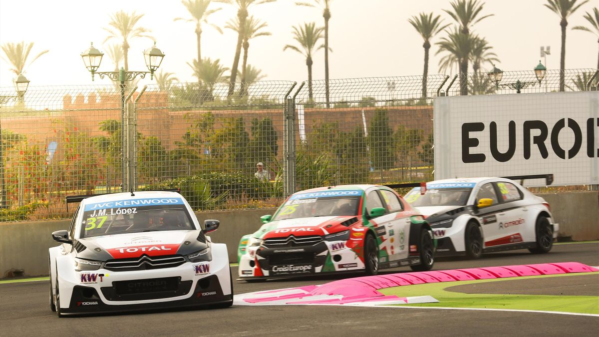 Jose Maria Lopez, Mehdi Bennani, Ma Qing Hua (Citroën WTCC) - Marrakech 2015