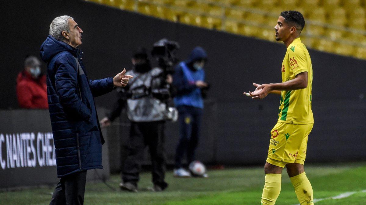 Raymond Domenech, coach du FC Nantes