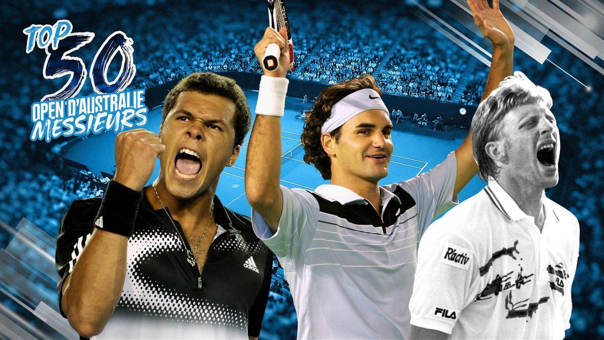 Top 50 Australie : Tsonga, Federer, Becker.