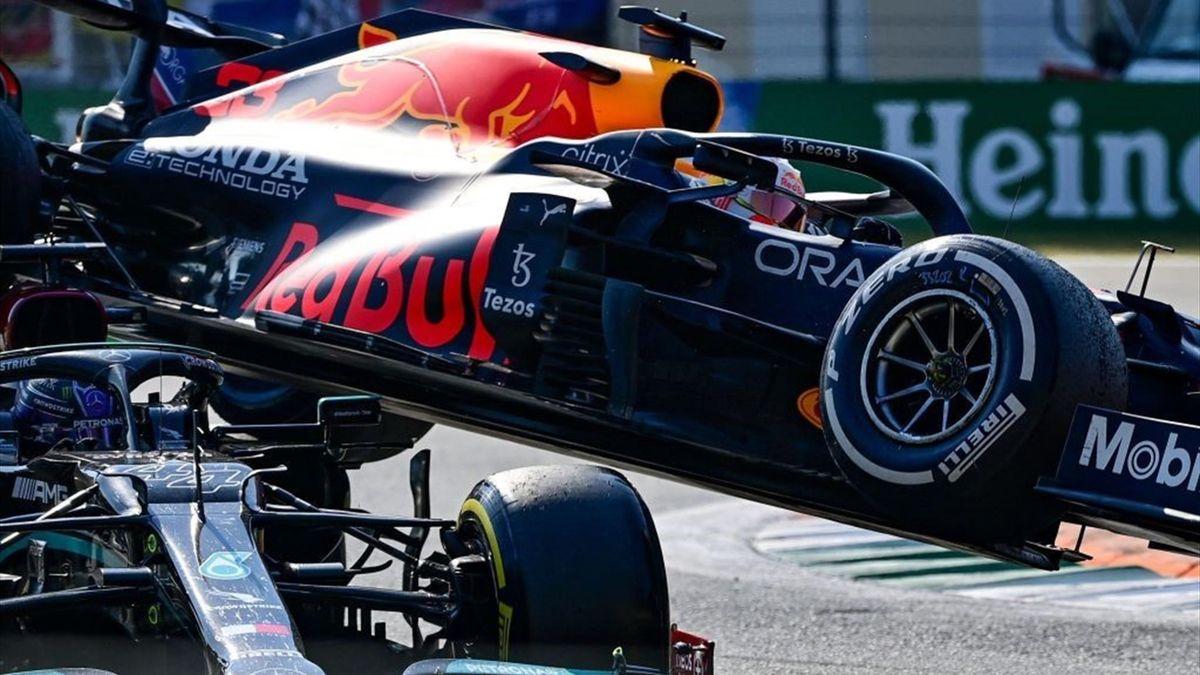 Max Verstappen und Lewis Hamilton