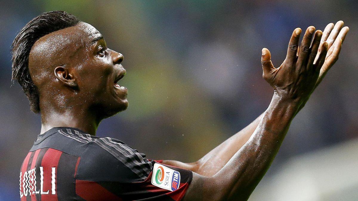 Mario Balotelli in action for AC Milan
