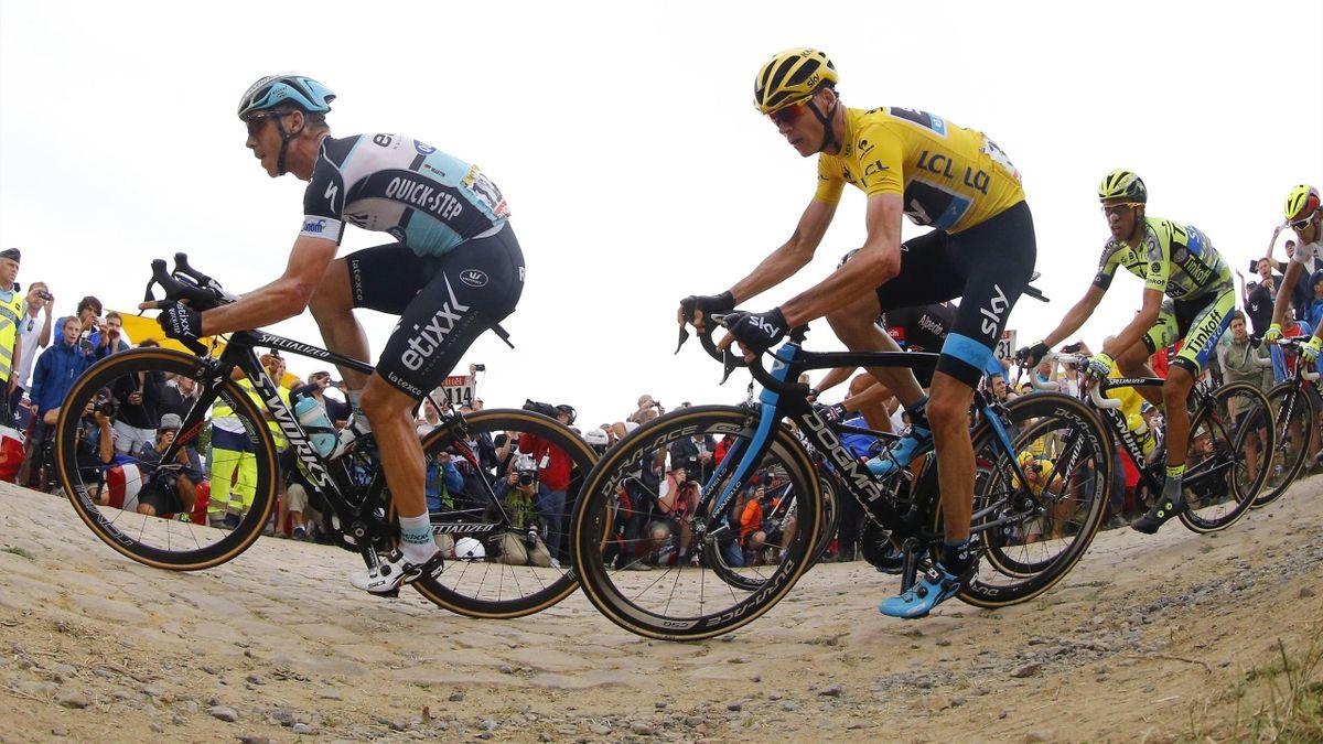 Tony Martin (Etixx-Quick Step) - Chris Froome (Sky) - Alberto Contador (Tinkoff Saxo) - Tour de France 2015  - 07/07/2015