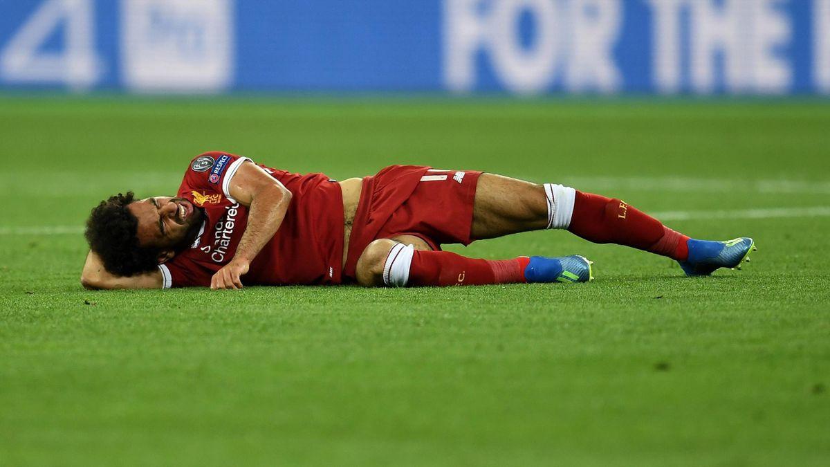 Mohamed Salah infortunato nella finale di Champions League, Getty Images