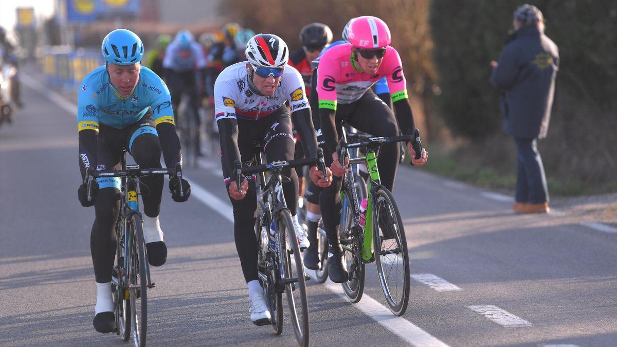 Michael Valgren, Zdenek Stybar and Sep Vanmarck | Cycling Omloop Het Nieuwsblad | ESP Player Feature