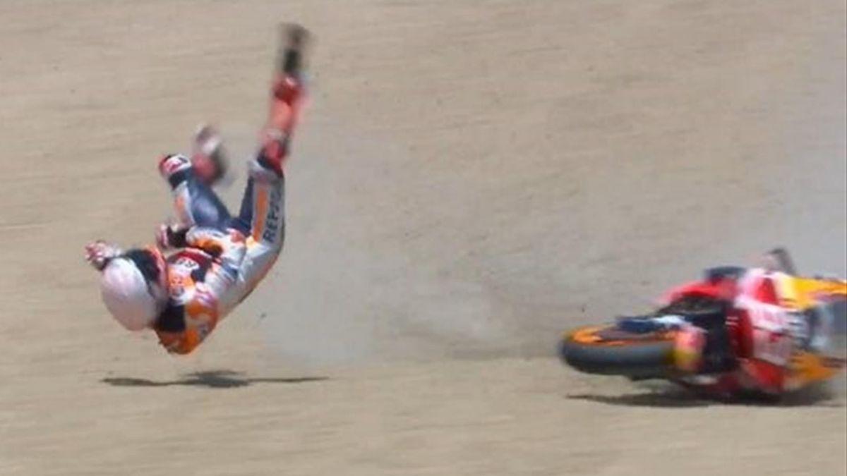 Marc Marquez a avut mari probleme în cursa de la Jerez
