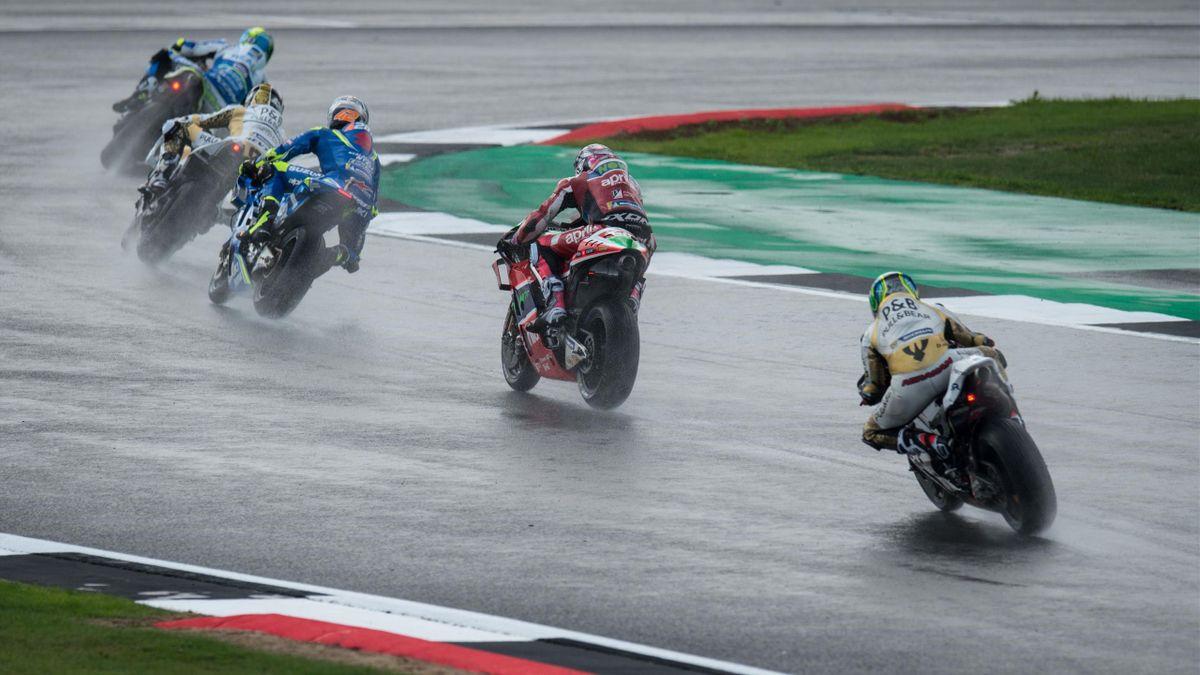 Silverstone rain MotoGP
