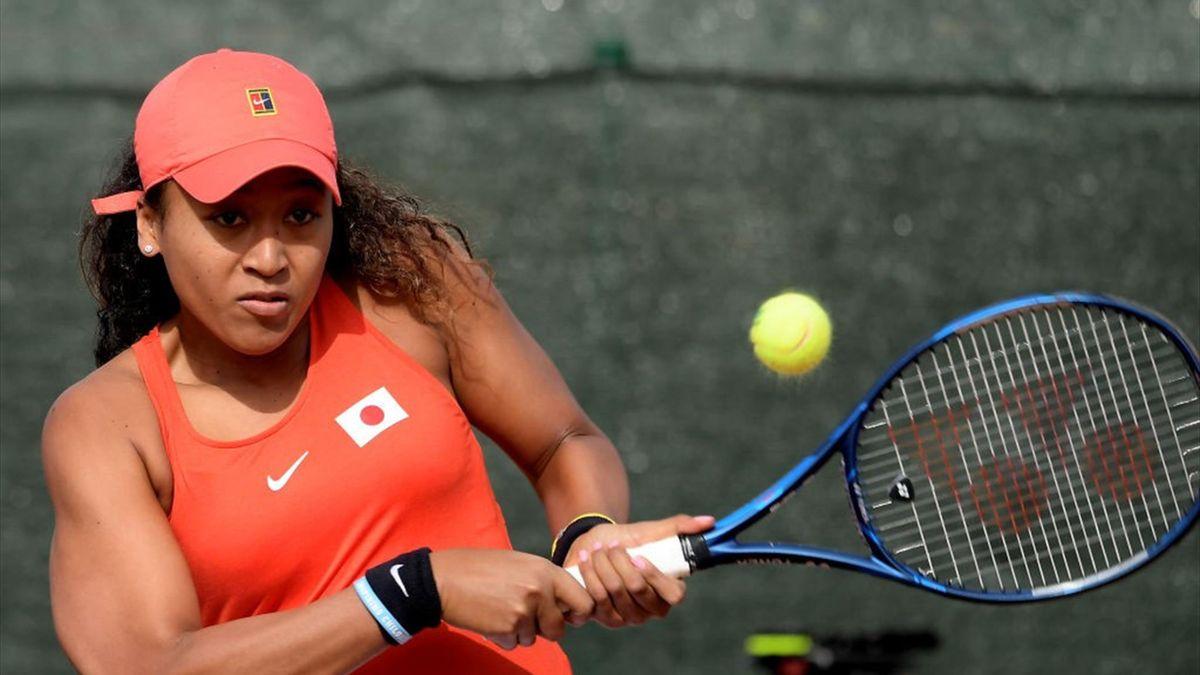 Naomi Osaka contre l'Espagne en Fed Cup en 2020