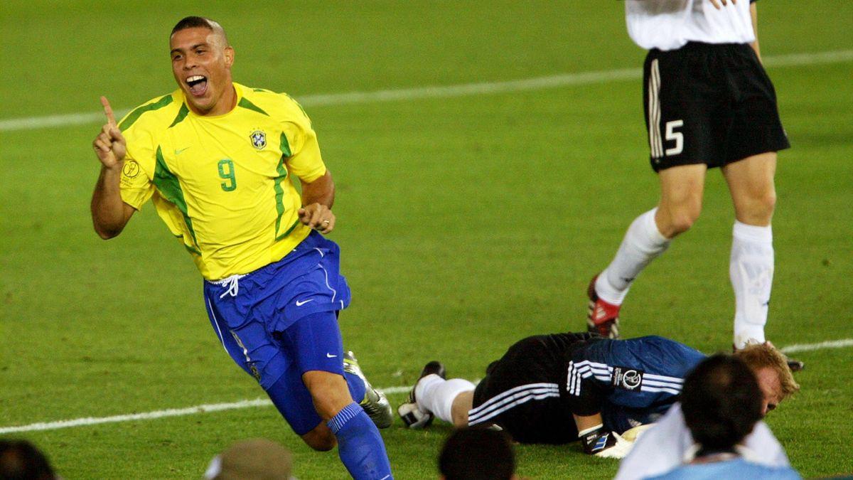 Ronaldo durante Germania-Brasile, finale del Mondiale 2002