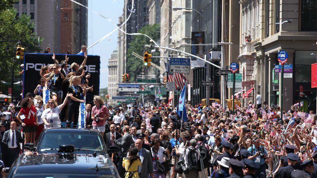 La parade des Américaines en 2015