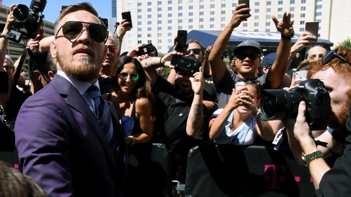 Conor McGregor soaks up the atmosphere in Las Vegas.