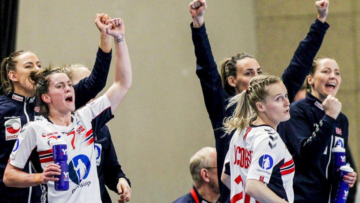 Norge jubler etter scoring i OL-kvalifiseringen mot Romania