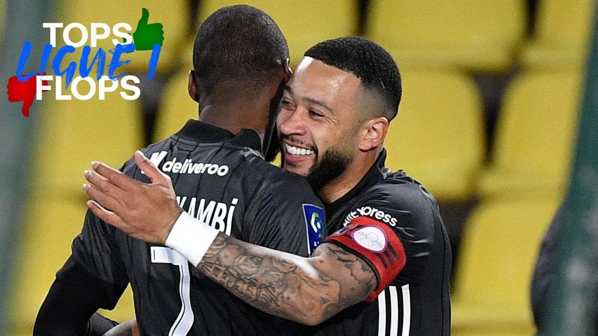 Memphis Depay - Les tops et les flops de la 33e journée de Ligue 1