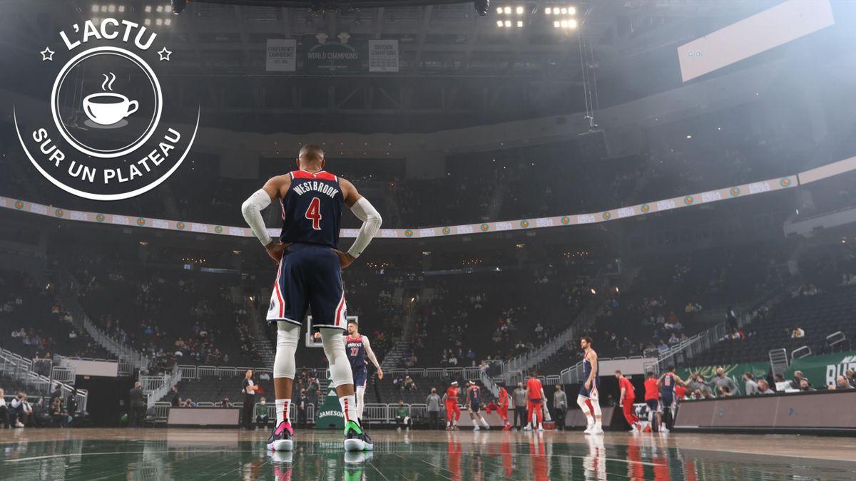 Russell Westbrook et les Wizards, battus cette nuit à Milwaukee : 135-134 - Actu sur un plateau