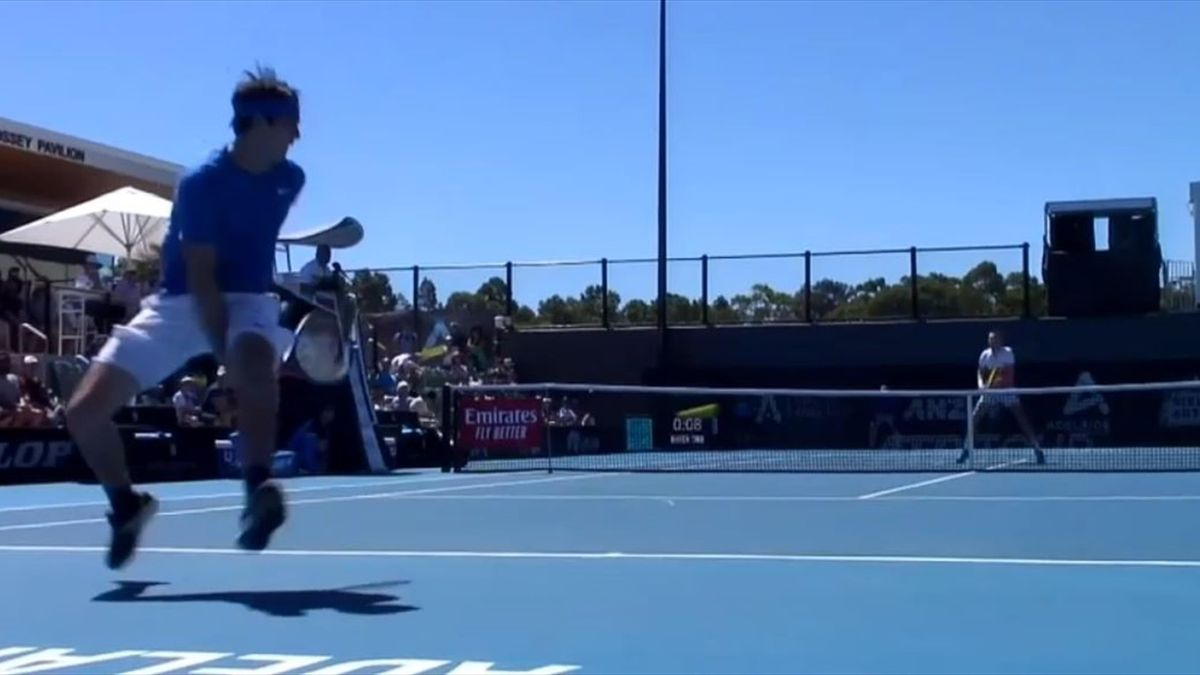 Taylor Fritz punktet mit Tweener (ATP Adelaide)