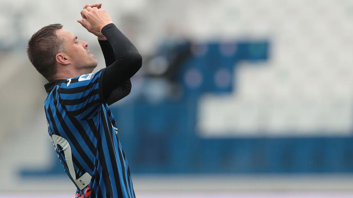 La delusione di Ilicic in Atalanta-Sampdoria