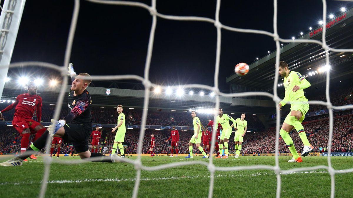 Divock Origi vom FC Liverpool erzielt das 4:0 gegen den Fc Barcelona