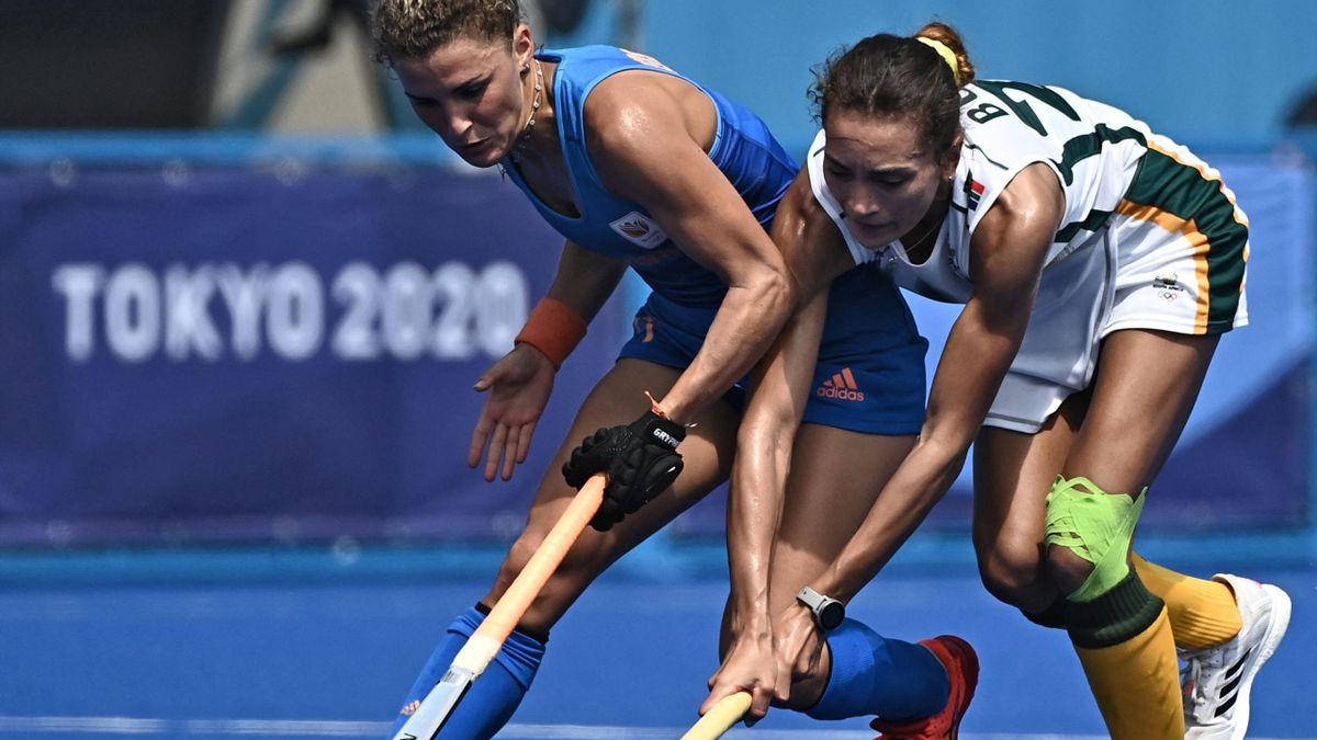 Nederland - Zuid Afrika hockey