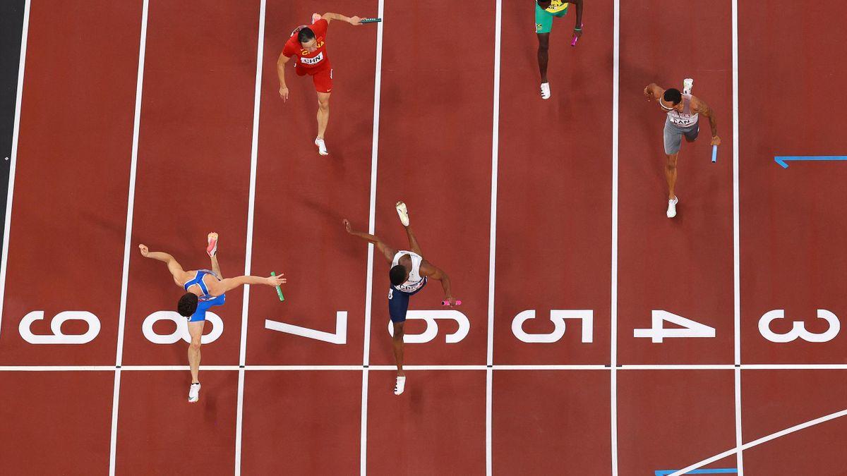 Filippo Tortu Italia 4x100 Meter Tokyo 2020