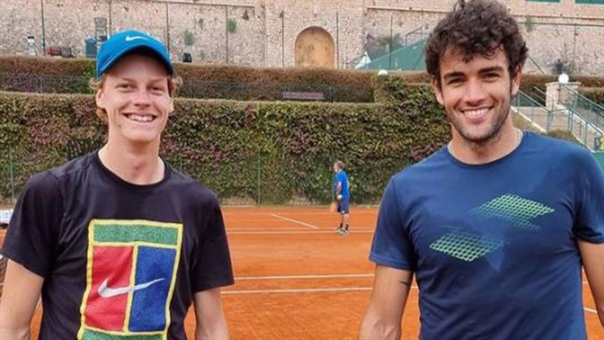 Sinner e Berrettini si allenano insieme a Montecarlo