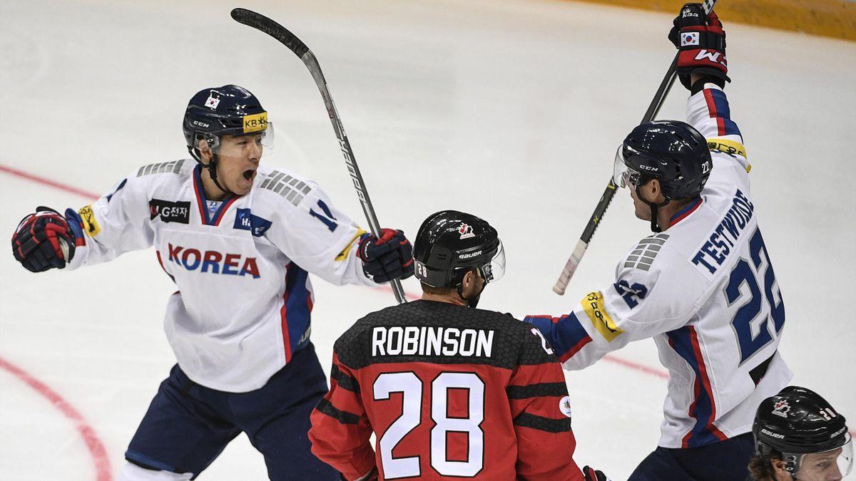 IJshockey Zuid-Korea - Canada mannen 2017