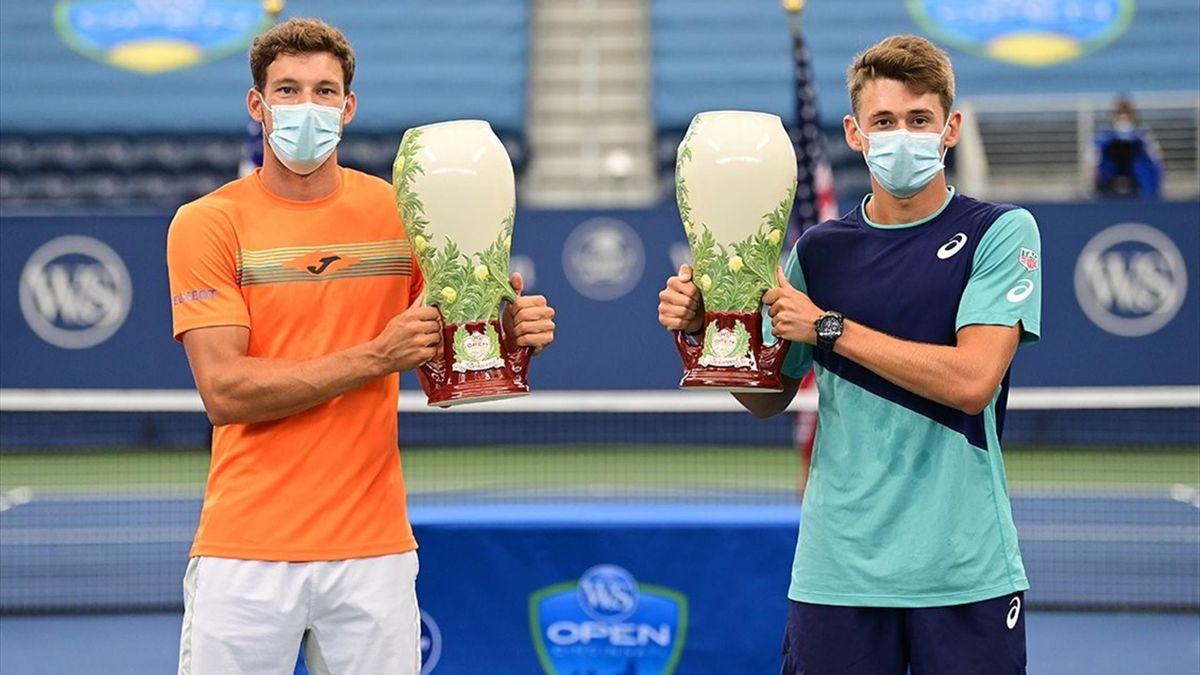 Pablo Carreño y Alex de Miñaur (Masters 1000 Cincinnati). Fotografía: Western & Southern Open