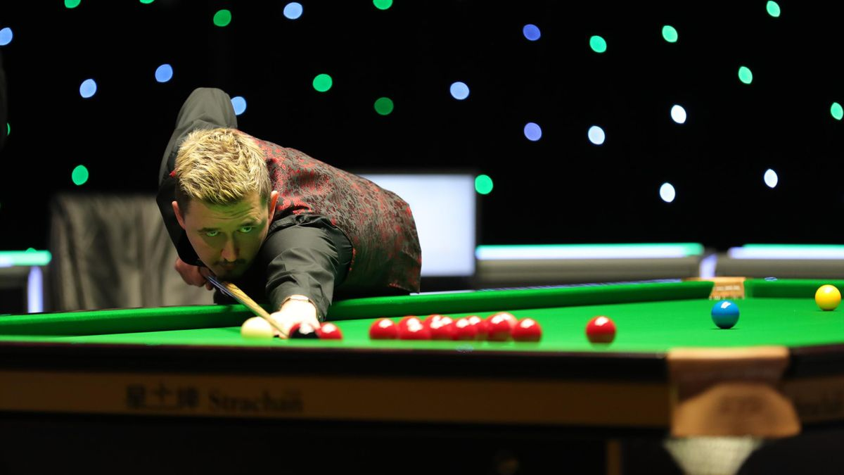 Kyren Wilson in action at the UK Championship