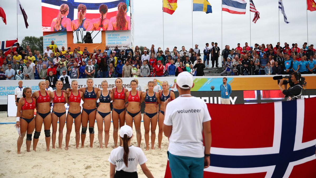 Seleccion noruega balonmano playa