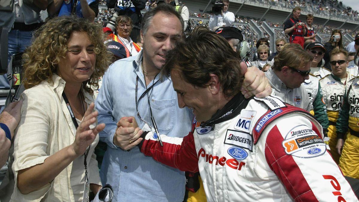 Alex Zanardi insieme alla moglie Daniela: ex manager e compagna del pilota e campione bolognese dal 1996, Getty Images