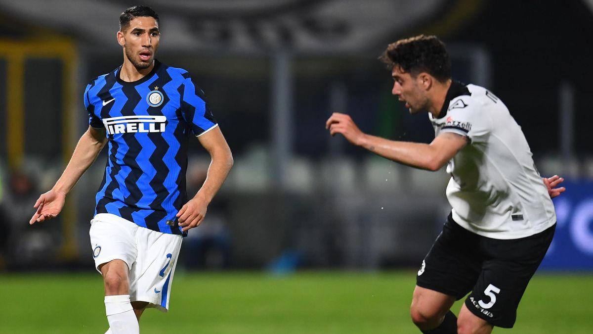 Achraf Hakimi, Spezia-Inter, Serie A 2020-21, Getty Images