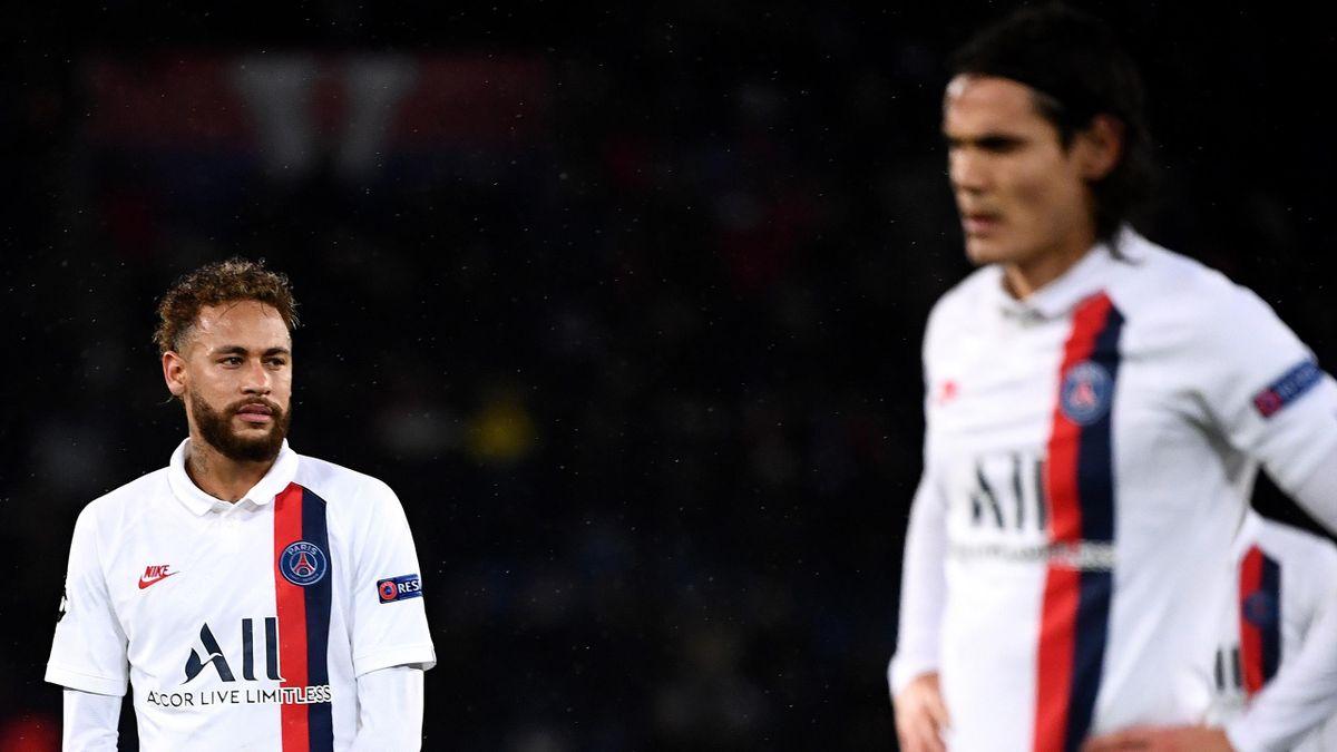 Könnten PSG im kommenden Sommer wohl verlassen: Neymar (links) und Edinson Cavani (rechts)
