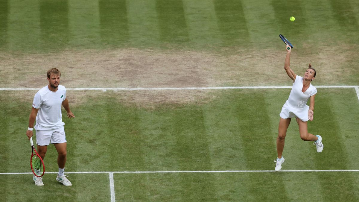 Kevin Krawietz und Kveta Peschke sind im Mixed-Wettbewerb von Wimbledon im Halbfinale ausgeschieden
