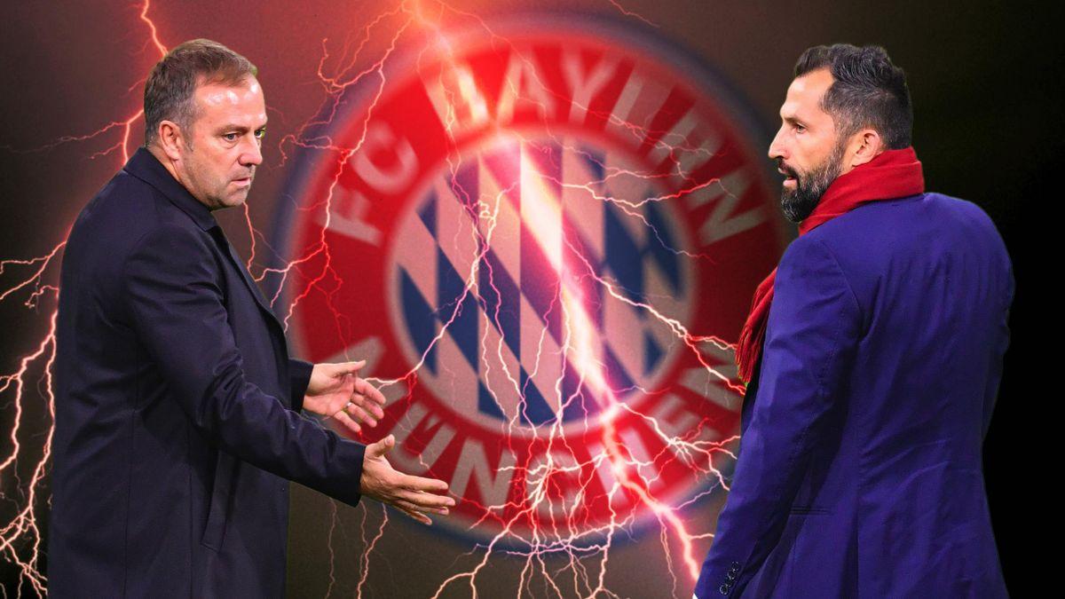 Bayern-Trainer Hansi Flick (links) und Sportvorstand Hasan Salihamidzic